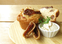 ドライイチジクと自家製豆乳チーズのマフィン